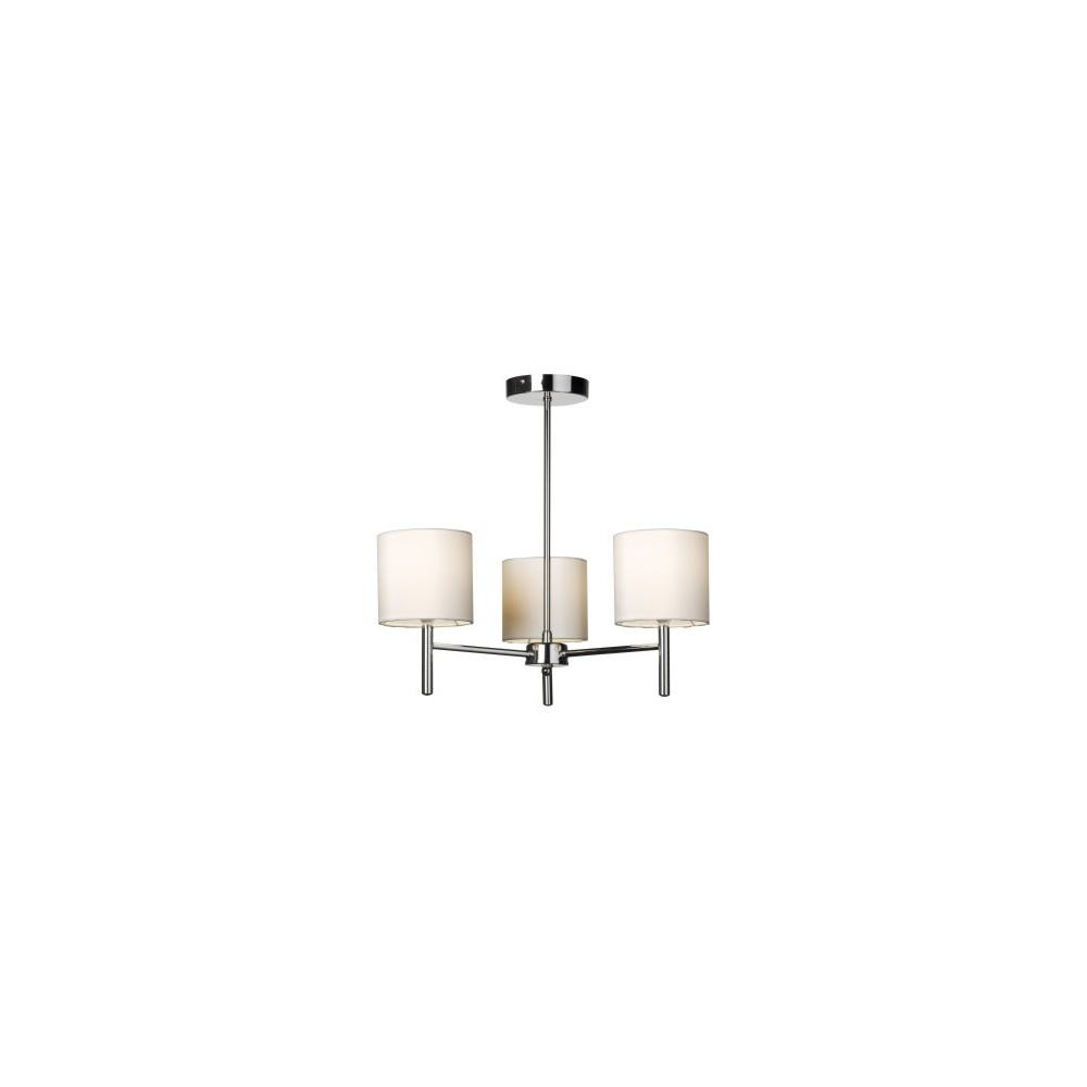 Endon brio 3ch 3 light semi flush ceiling light with cream shades brio 3ch 3 light semi flush ceiling light with cream shades aloadofball Gallery