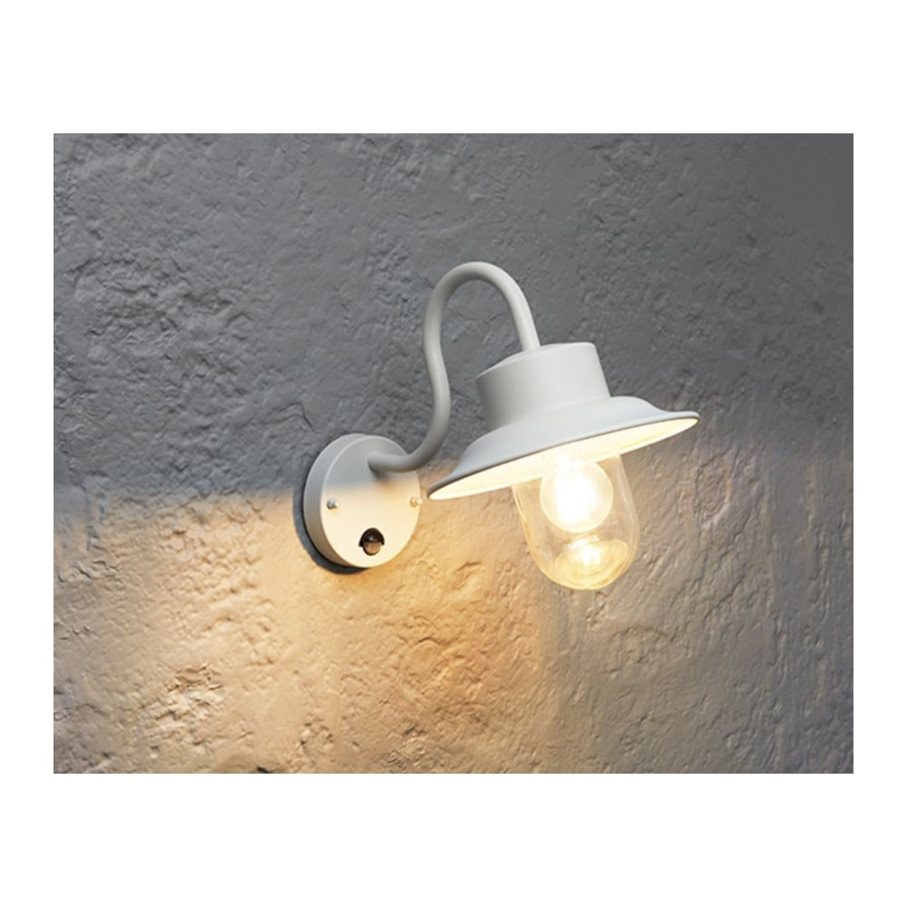 Endon chesham outdoor pir wall light in gloss stone paint finish chesham outdoor pir wall light in gloss stone paint finish with clear glass shade 70305 mozeypictures Image collections
