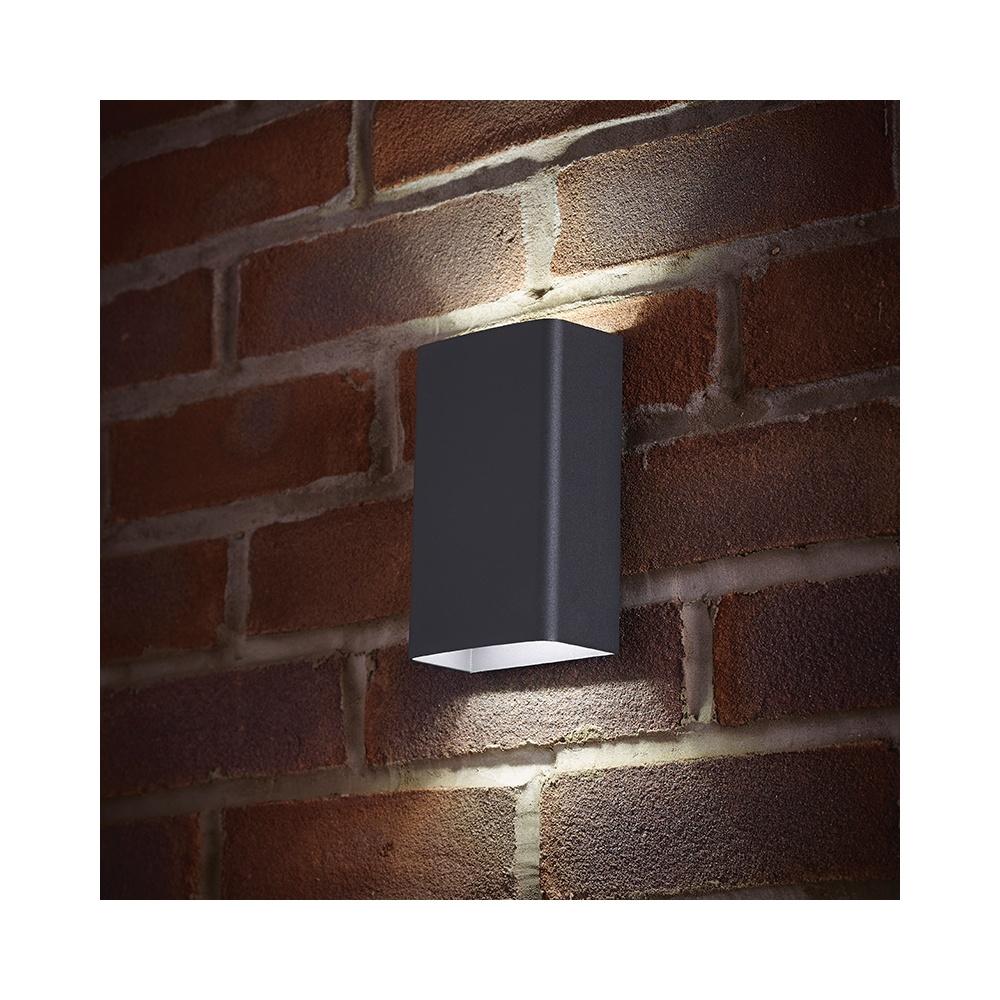 Endon el 40073 led outdoor matt grey updown double wall light el 40073 led outdoor matt grey updown double wall light mozeypictures Choice Image
