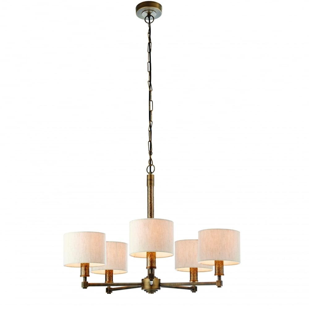 Endon indara multi arm ceiling pendant light in hammered bronze with indara multi arm ceiling pendant light in hammered bronze with natural linen shades 71345 mozeypictures Gallery