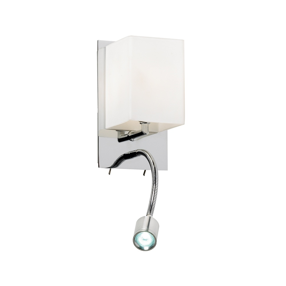Traditional Switched Wall Lights : Endon 20010-WBCH Chrome Modern Twin Wall Light With Switches - Lighting from The Home Lighting ...