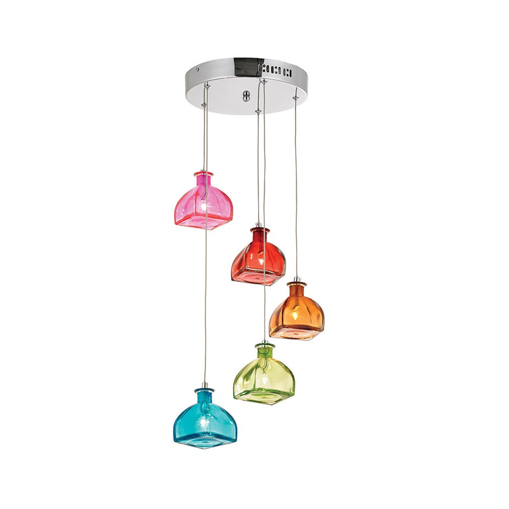 Endon 5 light coloured glass ceiling pendant sarandon 5multi 5 light coloured glass ceiling pendant sarandon 5multi aloadofball