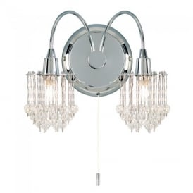 850-2CH 2 Light Crystal Wall Light