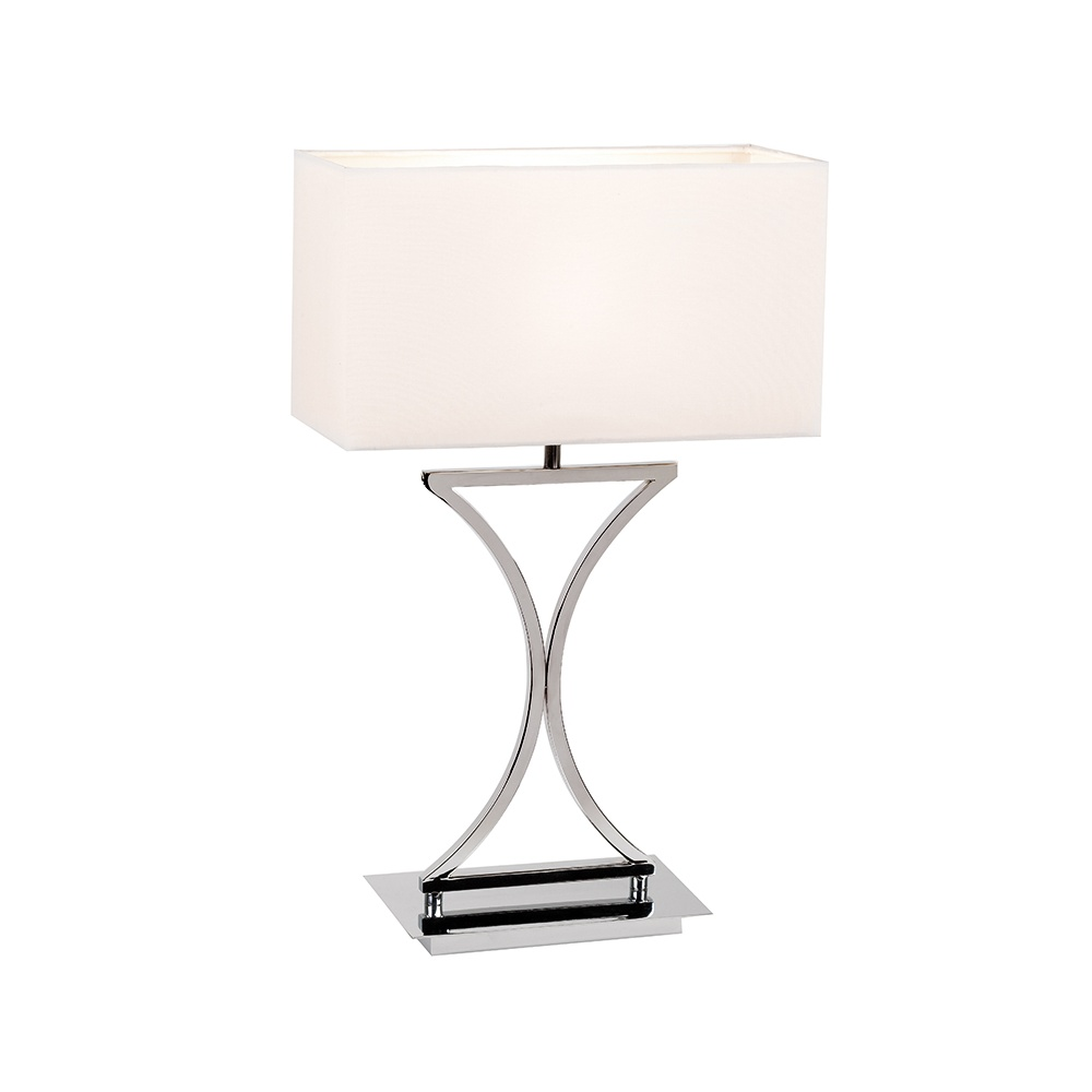 Baseamp; Shade Lamp Table Tlch Cream Chrome 96930 With nOvmw8N0