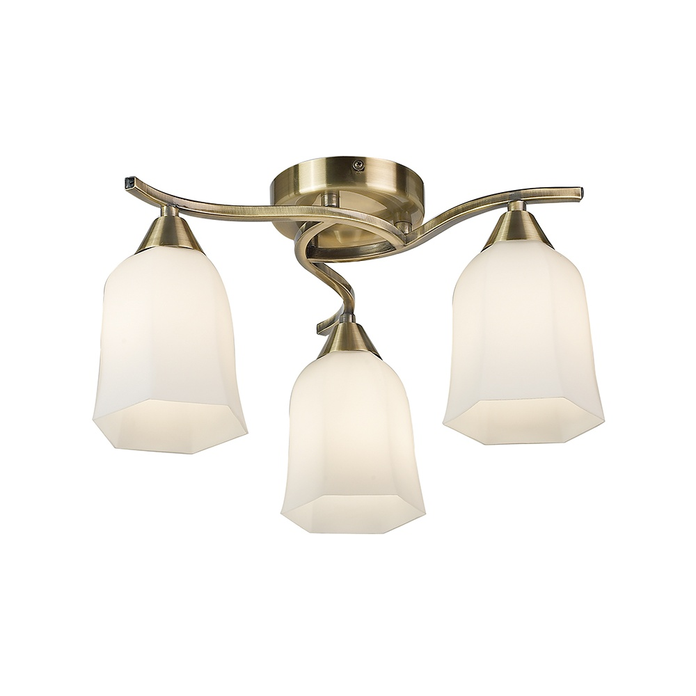 Endon 96973 ab alonso 3 lt antique brass semi flush ceiling light 96973 ab alonso 3 lt antique brass semi flush ceiling light mozeypictures Images