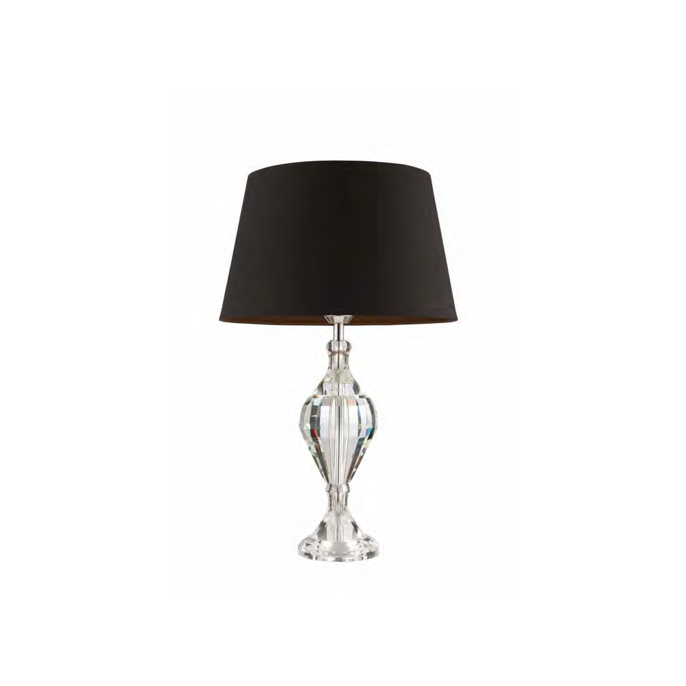 Endon Aldwych Crystal Table Lamp with Black Shade 61186 + CICI ...