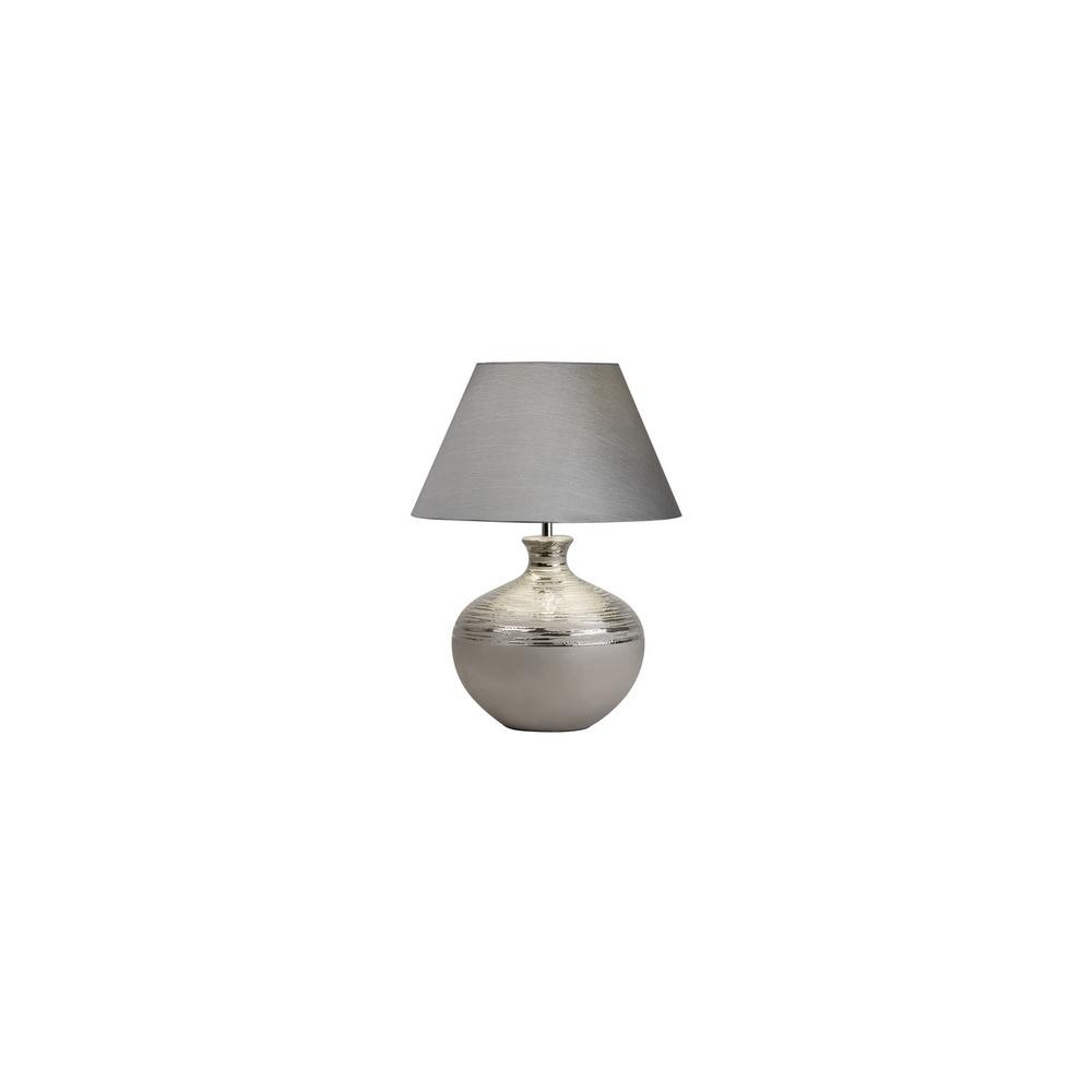 Endon AMARYLLIS-TLCH Etched Chrome Ceramic Table Lamp With Shade ...