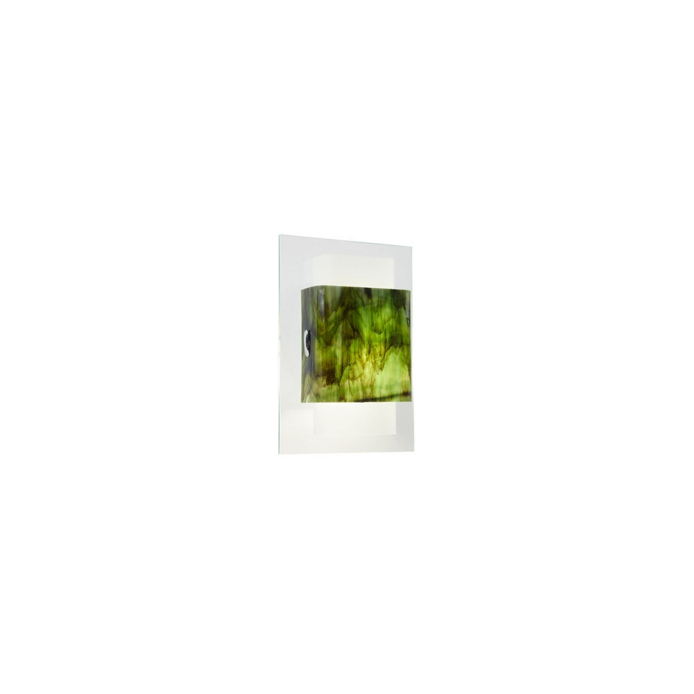 Lights For Green Wall : Endon Lighting BAYLIS-1WBGR Contemporary Green Glass Wall Light - Endon Lighting from The Home ...