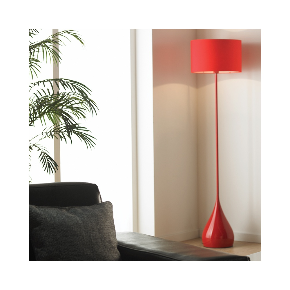 Endon camden flre modern floor lamp with shade in red lighting camden flre modern floor lamp with shade in red aloadofball Gallery