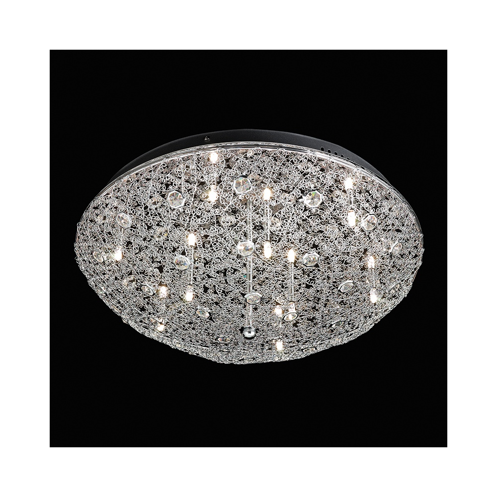Endon echo 9ch echo chrome and crystal flush ceiling light echo 9ch echo chrome and crystal flush ceiling light aloadofball Gallery