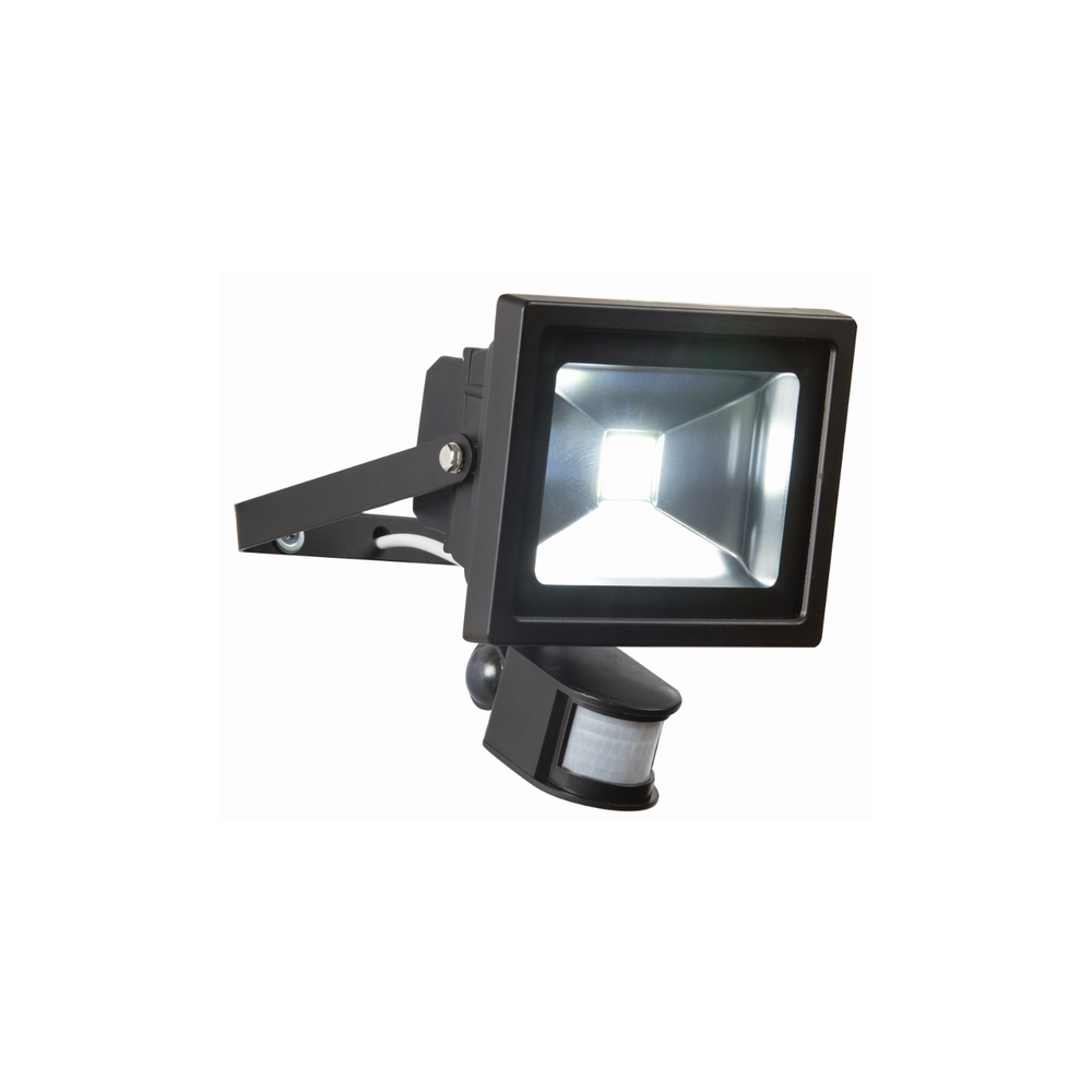 Endon Lighting EL 20W LED PIR FLOOD Outdoor PIR Sensor Black Flood Light En