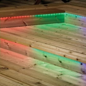EL-40051-RGB 5 Metre Transparent LED Roll In Red Green And Blue