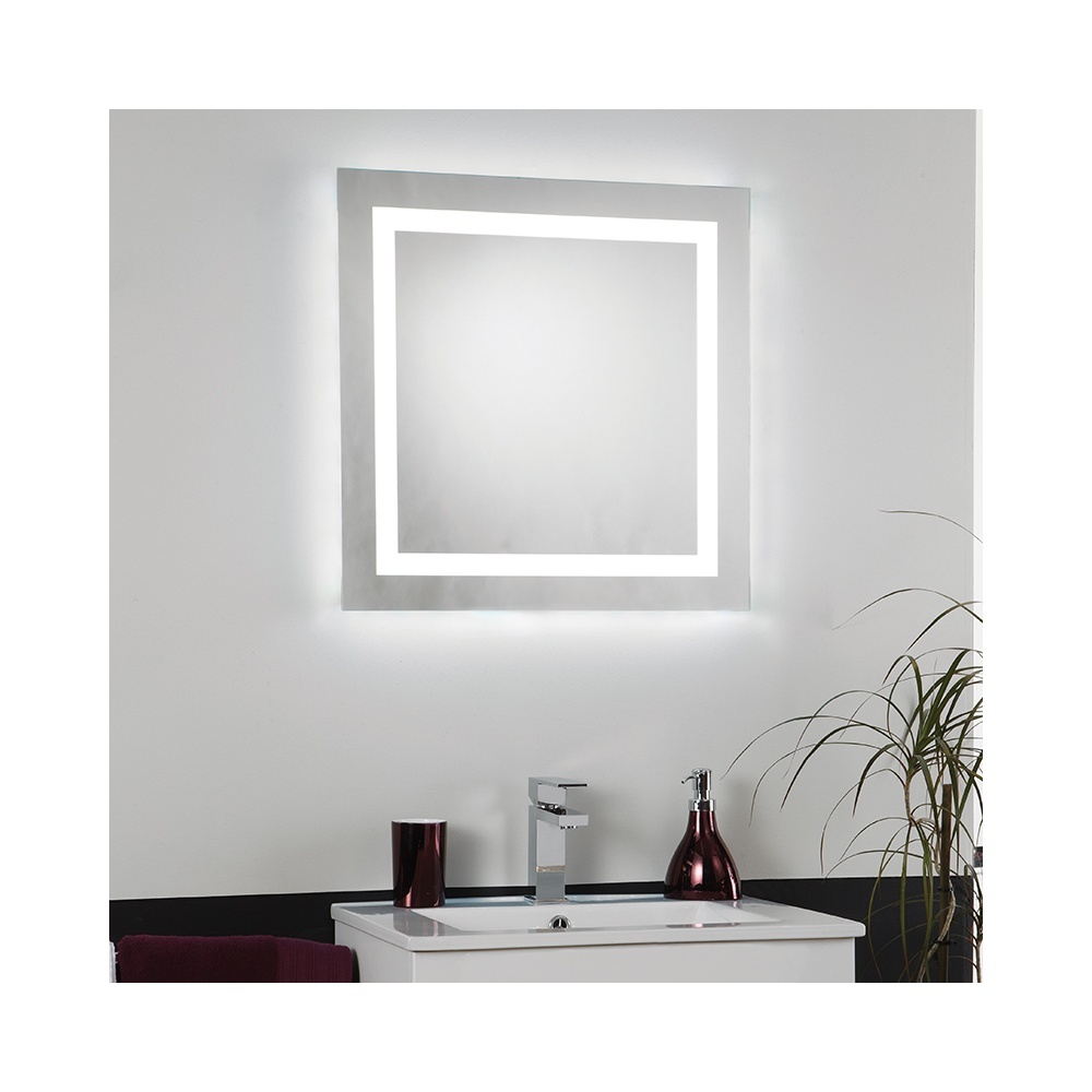 EL CABRERA LED Square Switched Illuminated Bathroom Mirror