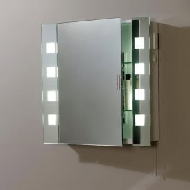 EL-MILOS Enluce Bathroom Mirror With 8 Frosted Square Lights