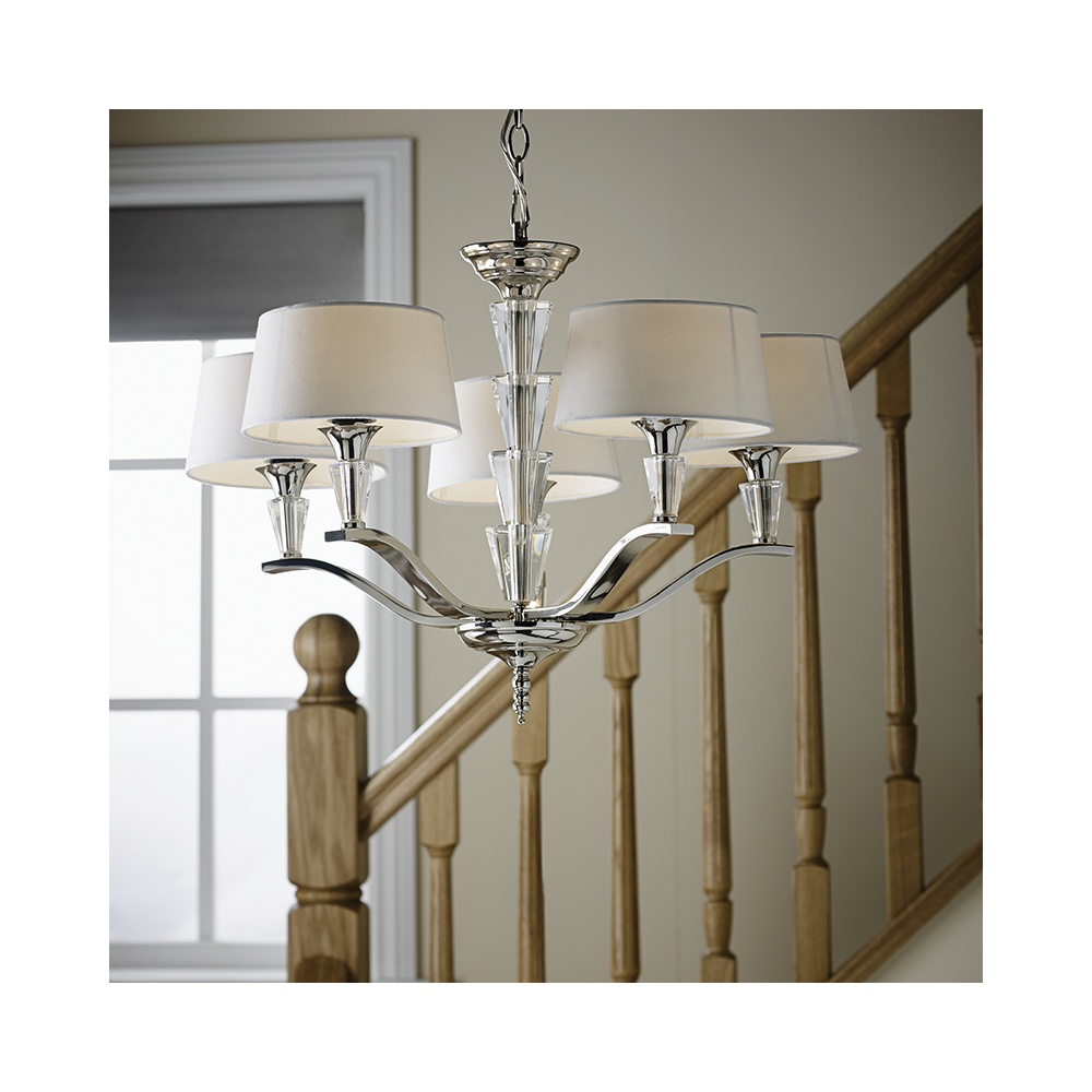 stylish lighting.  Lighting FIENNES5NI 5 Light Stylish Polished Nickel Multi Arm To Lighting A