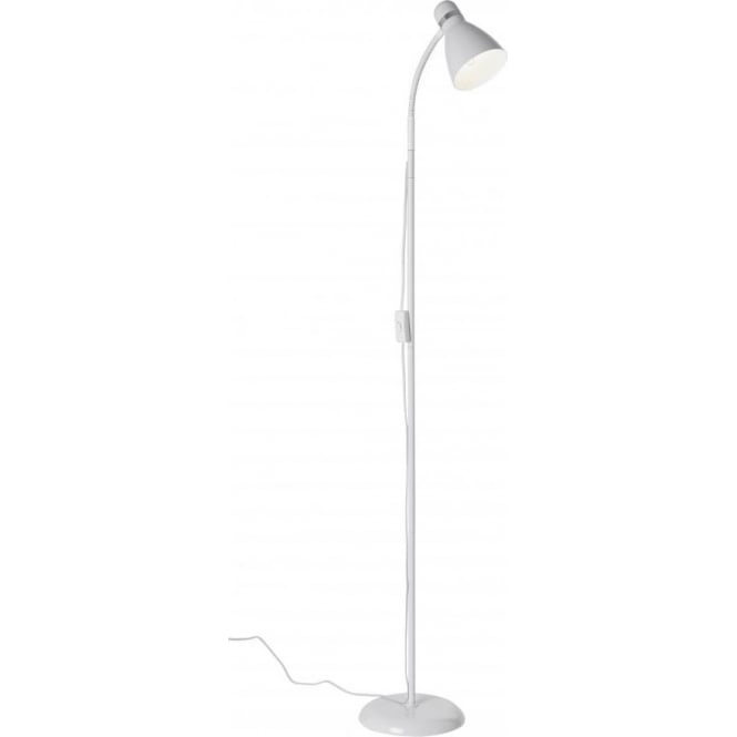 Craft Floor Lamps: Greenwich-FLWH Modern White Adjustable Reading/Craft Floor