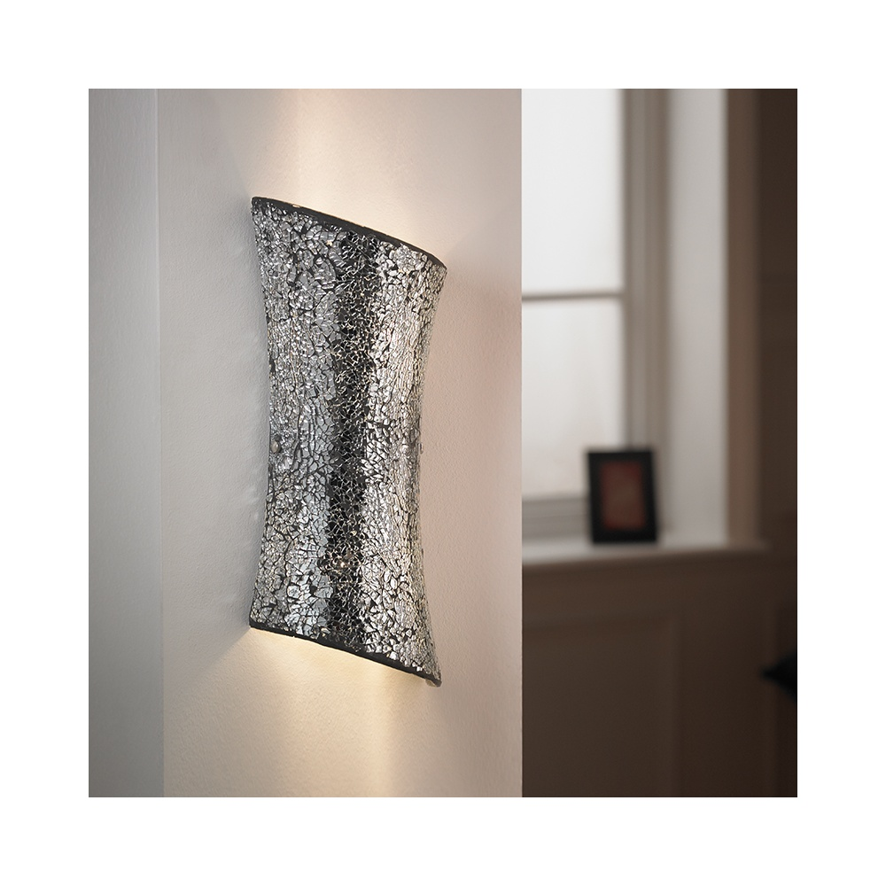 Endon MARCONI-2WBCH Mosaic Wall Bracket In Chrome Effect Finish - Lighting from The Home ...
