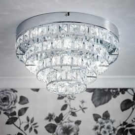 MOTOWN-4CH 4 Light Flush Ceiling Light With Glass Beads