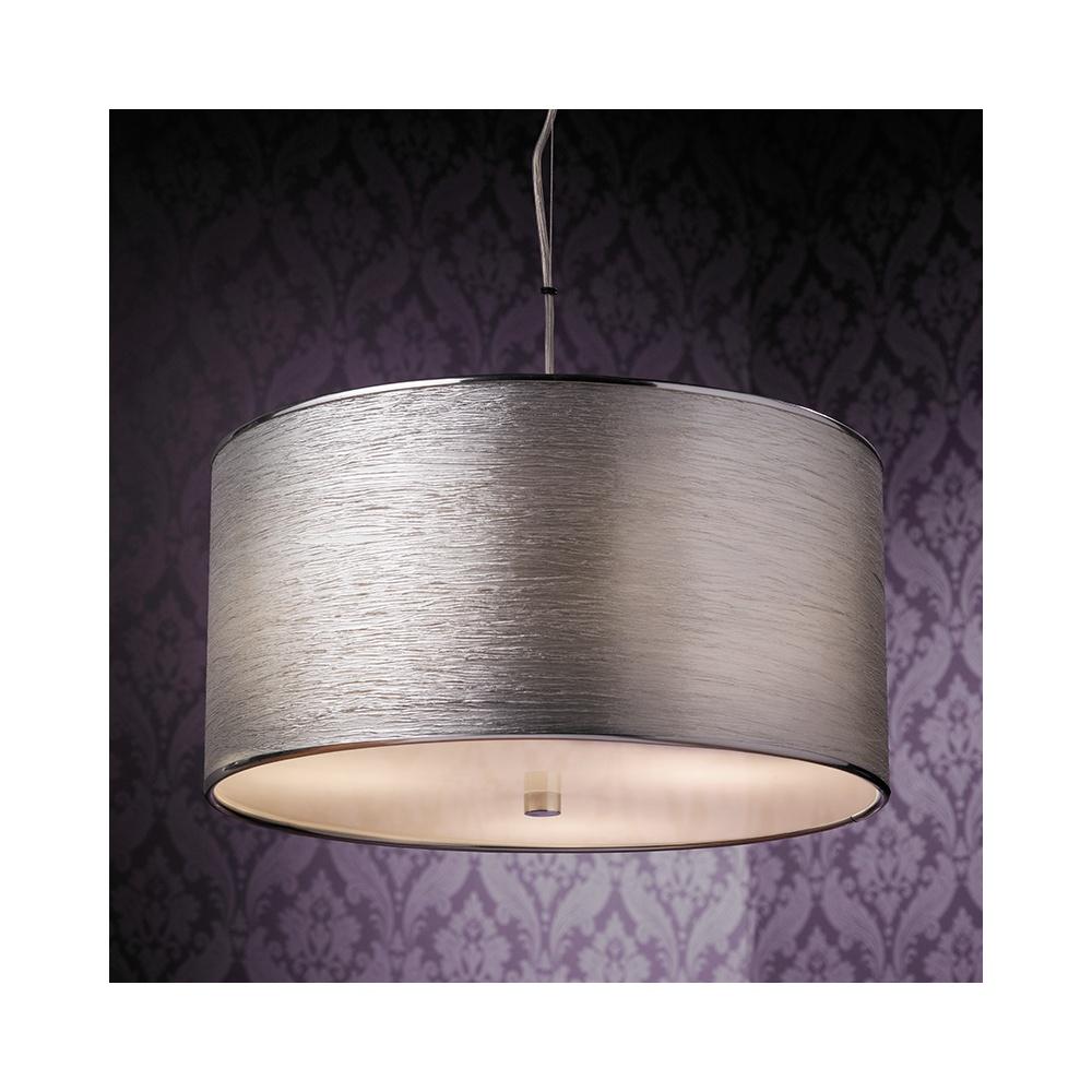 Endon rebolo 3ch pendant ceiling light in chrome with silver shade rebolo 3ch pendant ceiling light in chrome with silver shade aloadofball Gallery