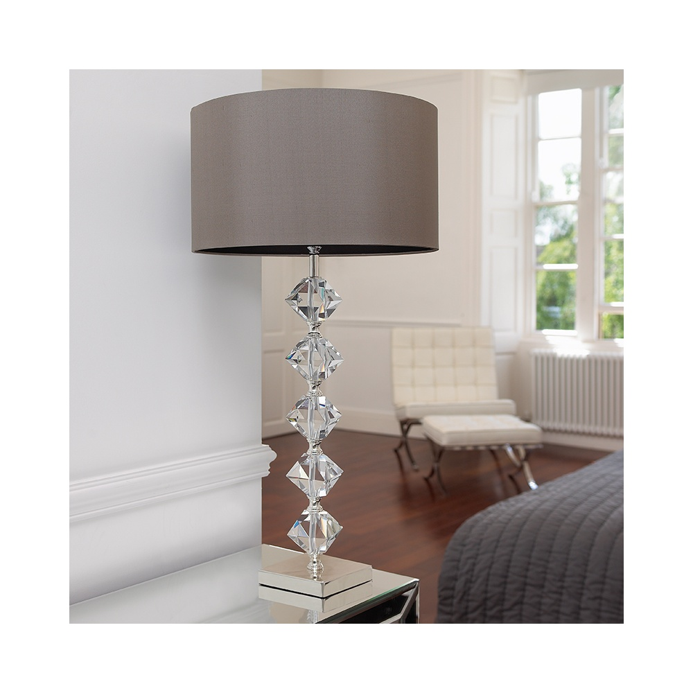 Endon verdone crystal table lamp in silver plate with shade verdone crystal table lamp in silver plate with shade mozeypictures Image collections