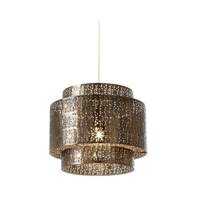 Ceiling Lamp Shades At Next: Endon NE-BRAMHAM-BZ Bronze Metal Decorated Ceiling Light