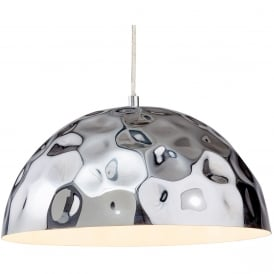 Enigma Modern Ceiling Pendant Light In Chrome Finish 3445CH
