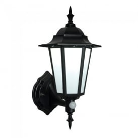Eversham PIR Exterior Wall Light In Matt Black Textured Finish IP44 54555