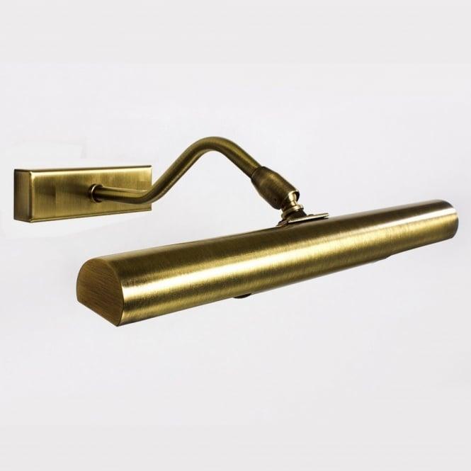 Exeter Small Modern Antique Brass Slimline Picture Light