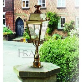 EXT6271 Great Western Exterior Post Lantern, Polished Brass