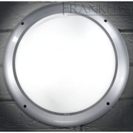 EXT6598 Lorenz Exterior Flush Wall Lamp In Silver Grey