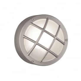 Exto Flush Mount Light In Stainless Steel Finish With Metal Cage EXT6620