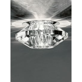 Faceted Crystal Glass Downlight In Chrome Finish RF241