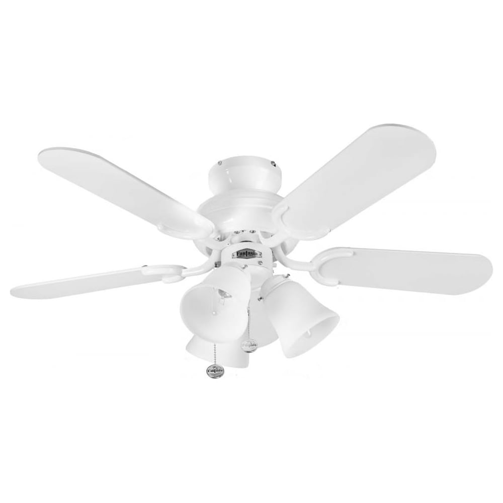 Fantasia capri 36 white ceiling fan with belmont light 110194 capri 36quot white ceiling fan with belmont light 110194 aloadofball Image collections