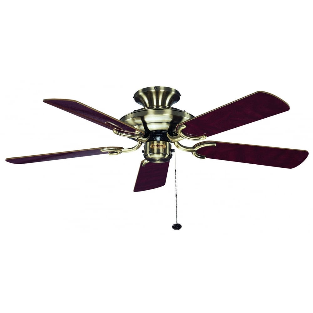 Fantasia mayfair 42 ceiling fan in antique brass finish with oak mayfair 42quot ceiling fan in antique brass finish with oak and mahogany blades 110057 aloadofball Image collections