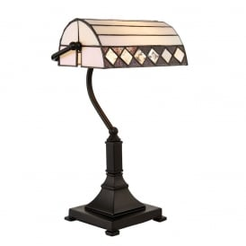 Fargo Tiffany Bankers Table Lamp In Art Deco Style 70908