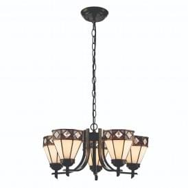 Fargo Tiffany Uplight Ceiling Pendant With Iridescent Glass 74345