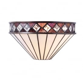 Fargo Tiffany Wall Light In Art Deco Style 64149
