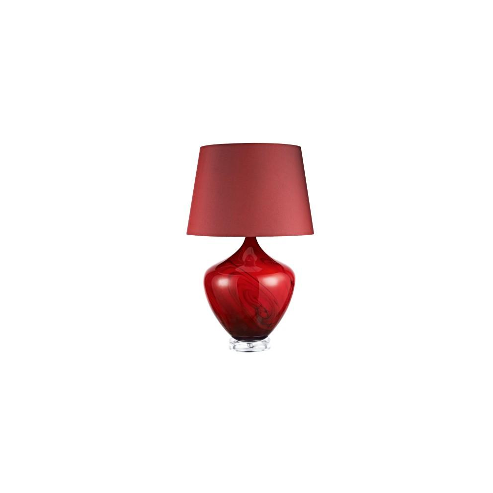 Dar Lighting Fes4225 Festival Dark Red Swirl Table Lamp With Shade