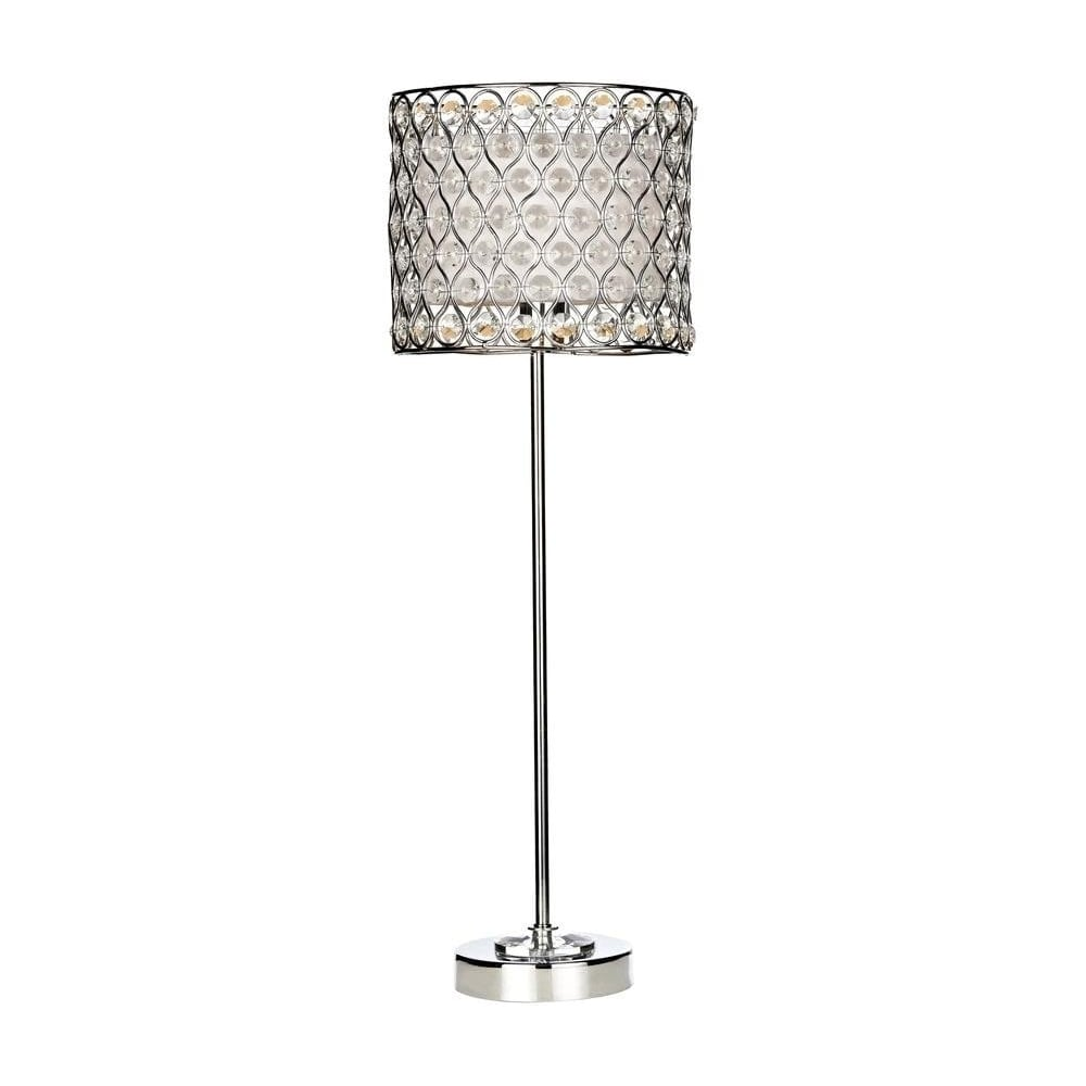 FIF4250 Fifi Contemporary Polished Chrome Amp Crystal Table
