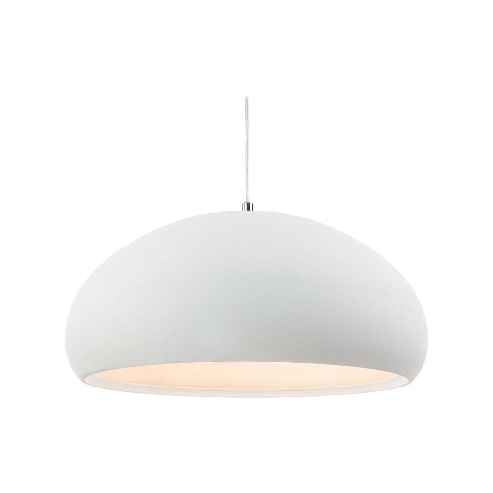 Firstlight 2308 Costa White Dome Ceiling Pendant Light Lighting