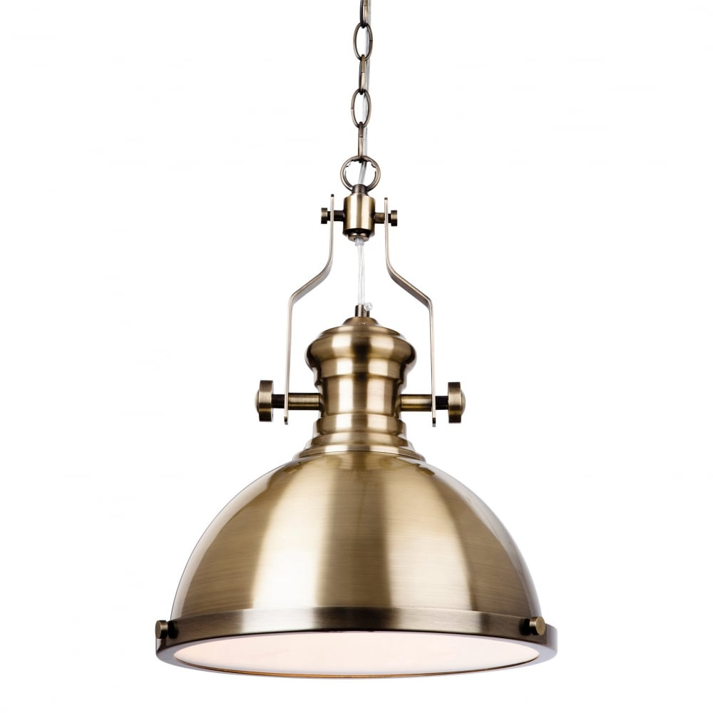 Firstlight albion industrial ceiling pendant light in antique brass albion industrial ceiling pendant light in antique brass finish 5909ab aloadofball Gallery