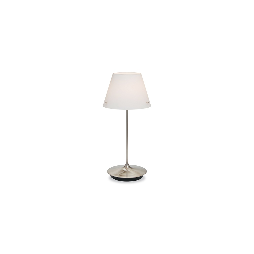 5600 swivel table lamp in brushed steel with rotating dimmer switch. Black Bedroom Furniture Sets. Home Design Ideas