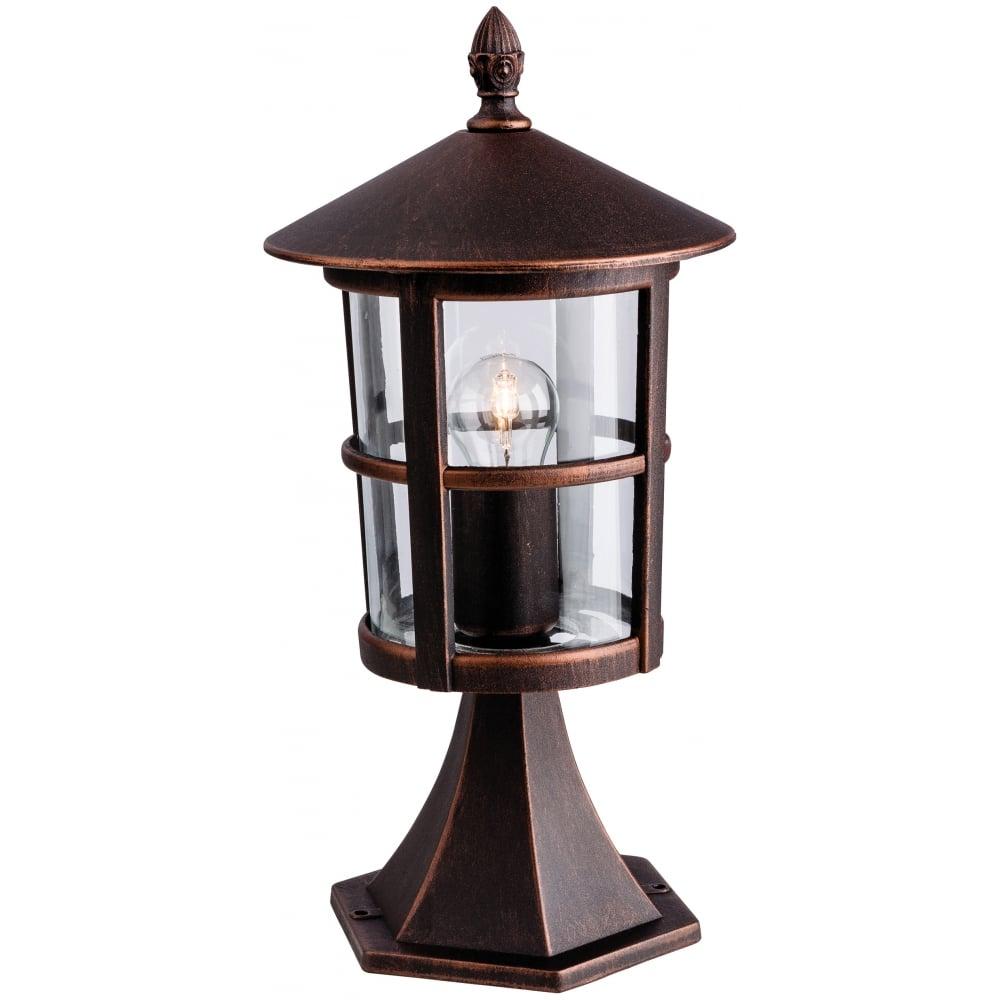 Stratford Outdoor Pillar Lantern In Bronze Finish 2357BZ