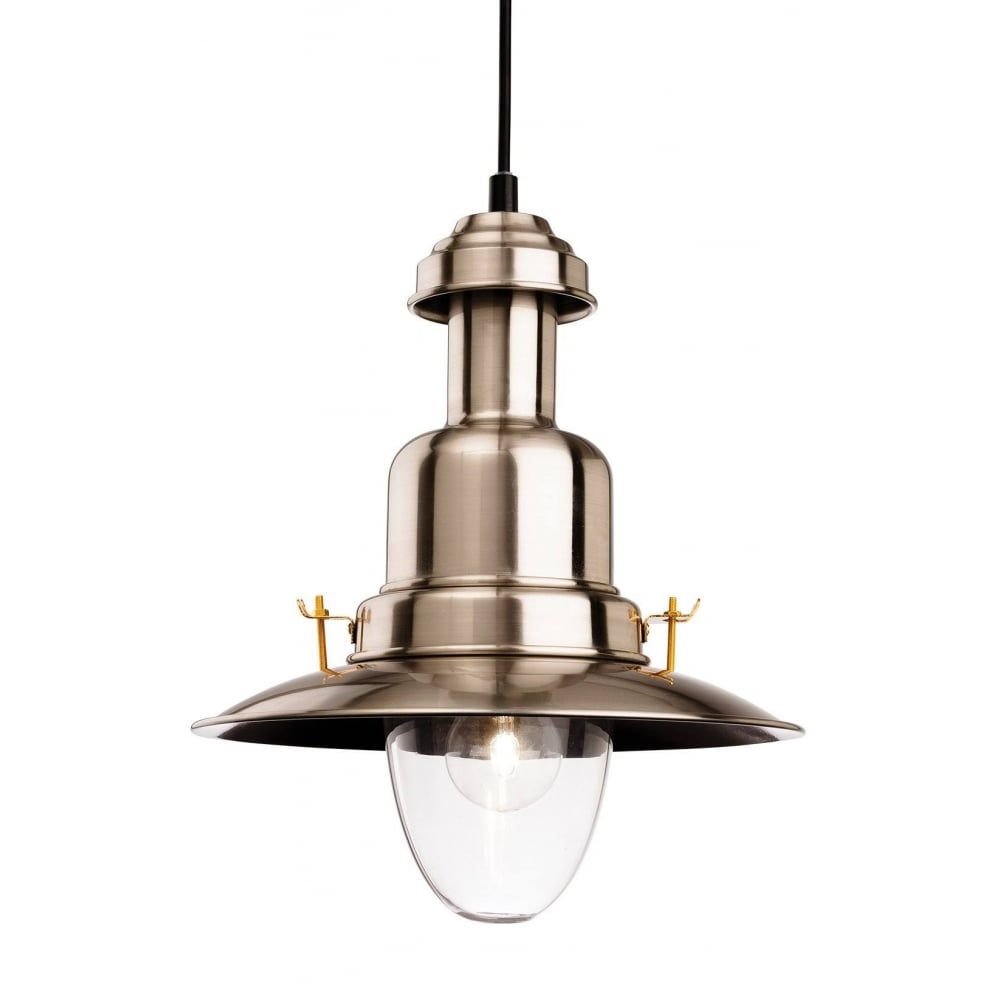 official photos 94d5d 08e8f Fisherman Classic Ceiling Pendant Light In Brushed Steel Finish 4874BS