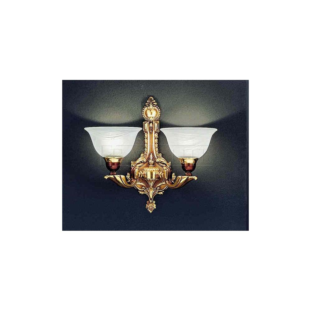 Franklite Lighting FL2088/2 Medici 2 Light Spanish Brass Wall Light - Lighting from The Home ...