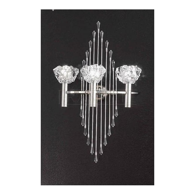 Franklite Crystal Wall Lights : Franklite Lighting FL2153/3/797 Frieze 3 Light Crystal Wall Light In Chrome - Lighting from The ...