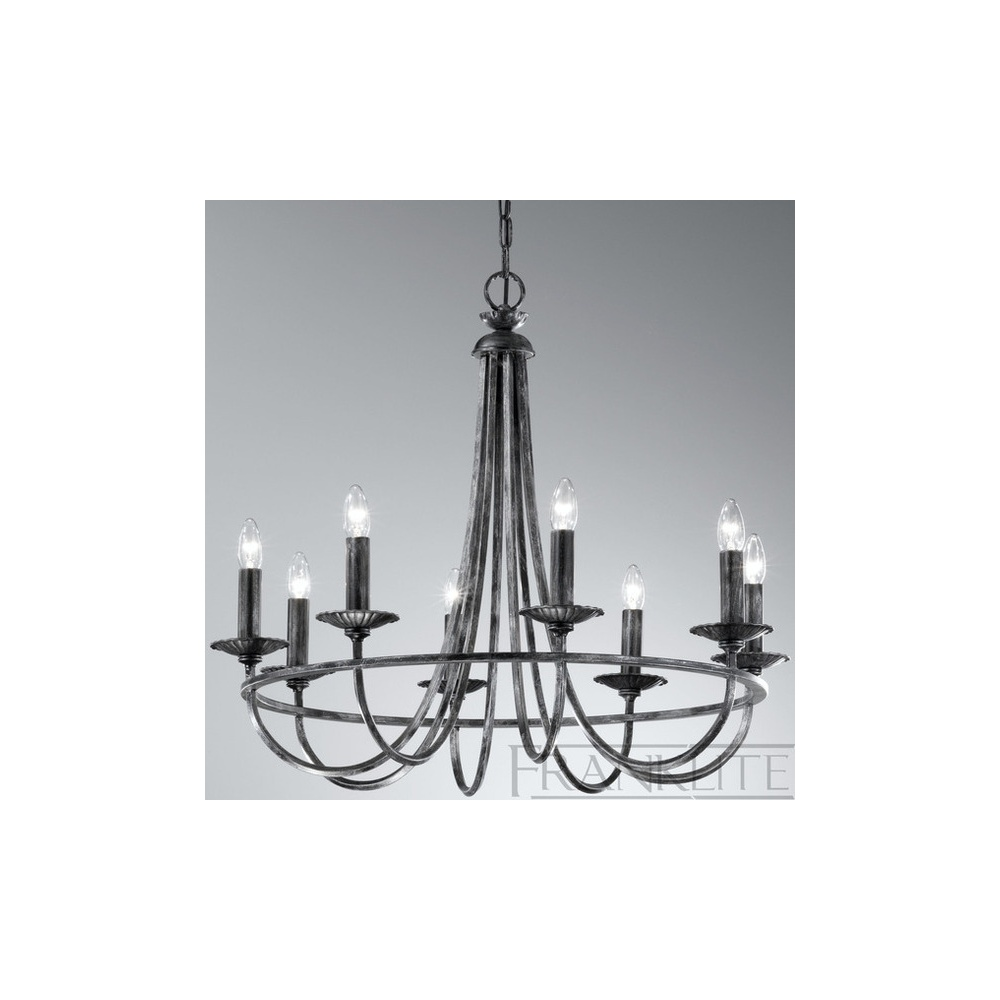 Fl2224 8 Cawdor 8 Light Hand Made Iron Chandelier