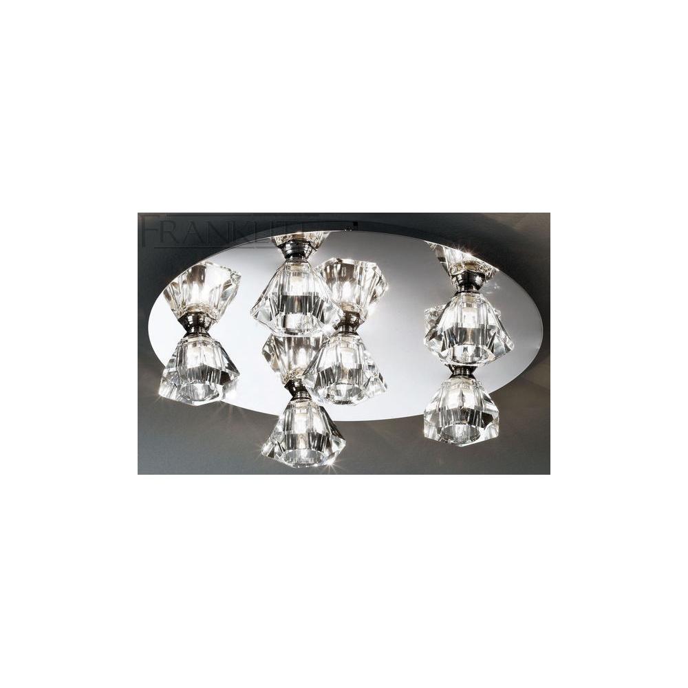 FL2243/6 Starz Chrome 6 Light Halogen Flush Ceiling Lamp