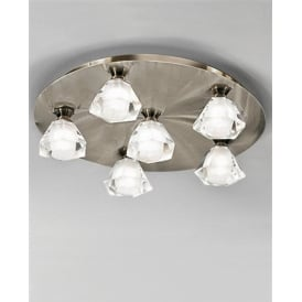 FL2244/6 Starz Bronze 6 Light Halogen Flush Ceiling Lamp