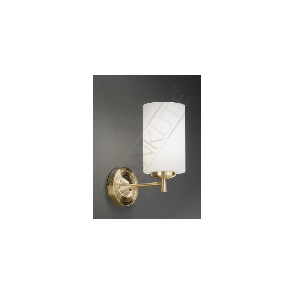 Franklite Lighting FL2252/1 Decima 1 Light Satin Brass Wall Light - Lighting from The Home ...